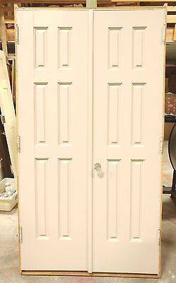 "Antique Closet French Door Set - Pre-Hung in Frame with Jamb -45.25""x83.5"" Solid"