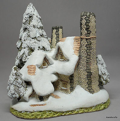 David Winter Snow Cottage Figurine UK 1984 Large 5.5in Original Label Signed
