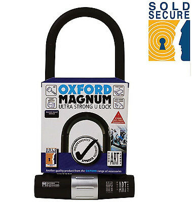 OXFORD MAGNUM ULTRA STRONG U LOCK FOR BICYCLE CYCLE SOLD SECURE (170mm x 315mm)