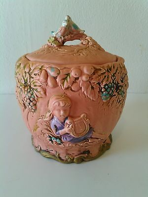 Vintage National Pottery Arcadia Cookie Jar Canister # C-6672