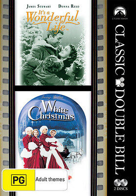 It's a Wonderful Life / White Christmas (Classic Double Bill) NEW DVD REGION 4