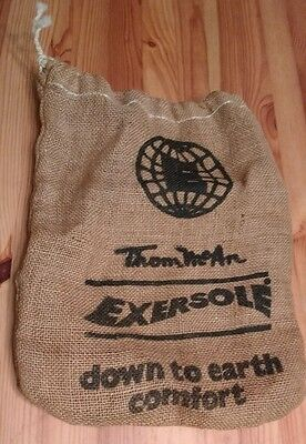 1970's Vintage Thom McAn EXERSOLE SHOE BAG Burlap Promotional Brown Drawstring