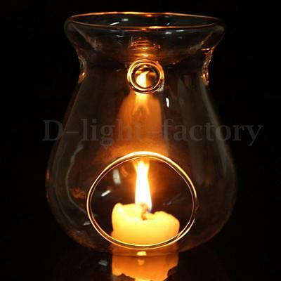 Glass Hanging Candlestick Scented Oil Burner Warmer Aroma Stove Candle Holder