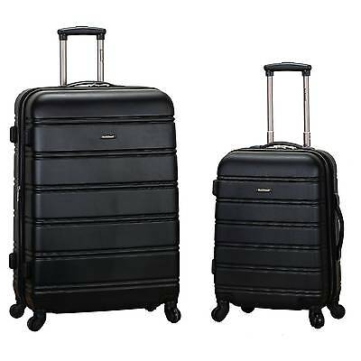 Rockland Melbourne 2pc Expandable ABSSpinner Luggage Set - Black