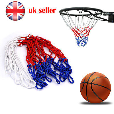 1 x New Basketball Net Nylon 3 Colours Red Blue & White Durable Rim Replacement