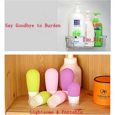 Mini Silicone Squeeze Bottle Travel Shampoo Shower Empty Lotion Sub-bottlin - 6A