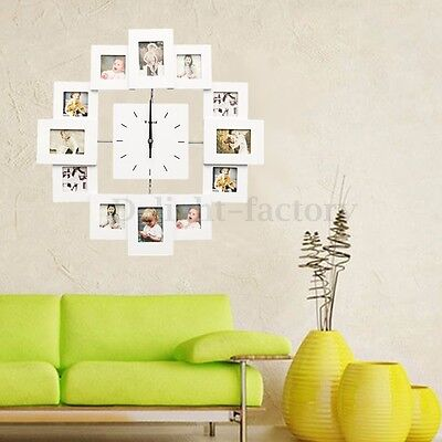 9 Grid Circular Collage Photo Frame Holds 6x4'' Pictures Wall Hanging Decoration