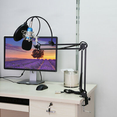 Condenser Microphone+Pop Filter Wind Screen+Arm Stand for Studio Recording