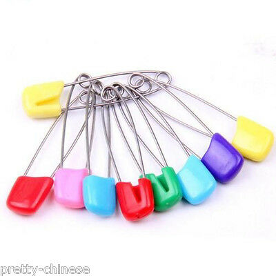 Baby Safety Hold Locking Cloth Nappy Diaper Craft  54mm 40mm Pins Sewing Clip