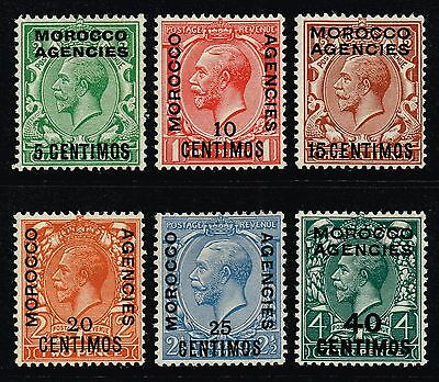 Morocco 1925-31 King George V set to 40c., MH (SG#143/148)