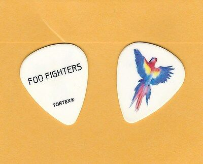 FOO FIGHTERS Pat Smear 2011 - 2012 Parrot Guitar Pick White