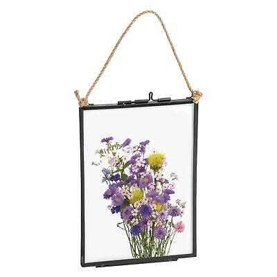Hanging Glass Vintage Photo Picture Frame With Rope - 5x7 Photos
