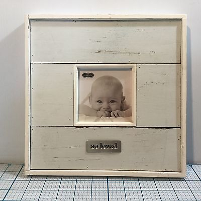 "NWT MUDPIE Blue ""So Loved""  Distressed Frame - 10.5 X 10.5 ( photo 3.5 X 3.5)"
