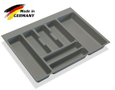 Cutlery Tray Inserts for Kitchen Drawers, Grey Plastic, Various sizes 400mm-1000