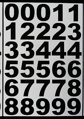 sticky vinyl Numbers stickers Decals weather proof Bk & Wt bin door office home