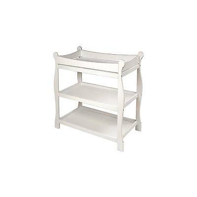 Badger Basket Sleigh Style Changing Table - White Finish