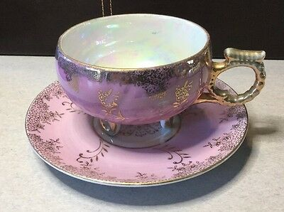 Vintage Japanese Hand Painted Fine China Cup & Saucer