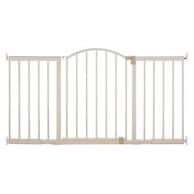 Summer Infant® Walk Thru Extra Wide Expansion Baby Gate (Beige Metal)