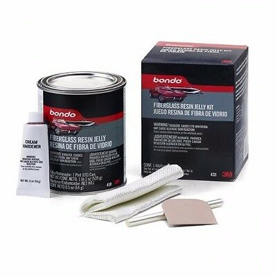 Bondo 431 Fiberglass Resin Jelly Kit - Pint Can Compatible with all paints (NEW)