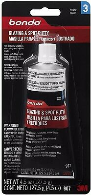 Bondo 907 Glazing and Spot Putty - 4.5 oz. (Size:1) Sandable in only 30 min AOI