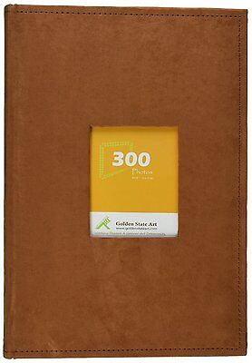 """Suede Cover Rusty Bronze Photo Album Holds300 4""""x6"""" pictures, 3 per page"""