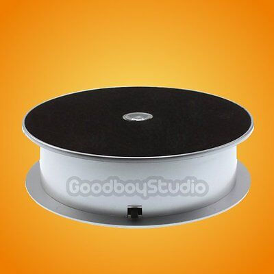 [US] 1KG Loading Silver Capacity 16cm LED Light Rotating Display Stand Turntable