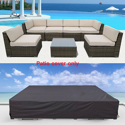 Outdoor Furniture Covers Waterproof For Rectangular Wicker Patio Sofa Set Large