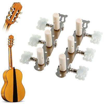 Classical Guitar String Tuning Pegs Keys Machine Heads Tuners White One pair