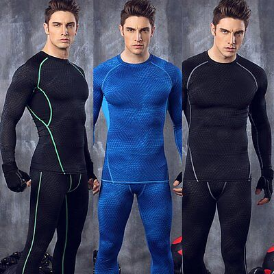 Cool Men Long Sleeve Vest Shirt Tank Wicking Gym Sports Running Athletic Clothes