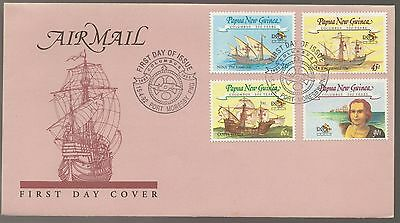 1992 Papua New Guinea Christopher Columbus 500 Years FDC