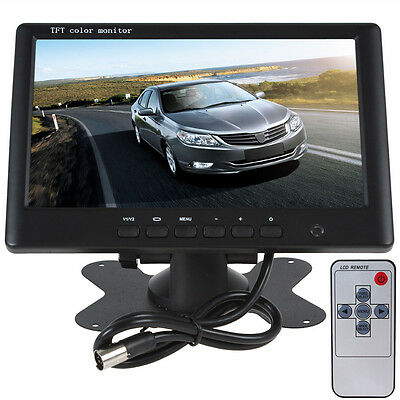 NEW HD 800 x 480 7 Inch Color TFT LCD Car Rear View Monitor With 2Ch Video UK