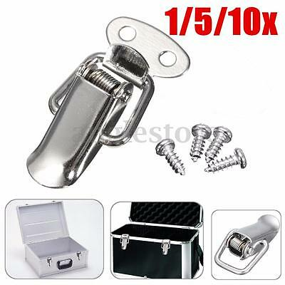 """Stainless Steel Cabinet Box Case Spring Loaded Latch Catch Toggle Hasp Loop 1.6"""""""