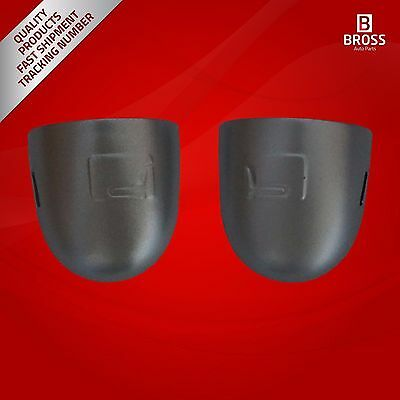 2X Door Key Hole Cover:8200036411 LEFT & RIGHT Silver for Renault Megane