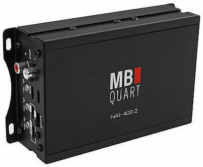MB QUART NA1-400.2 400 Watt RMS 2-Channel Marine Boat ATV Compact Amplifier Amp
