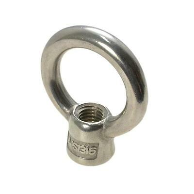 Pack Size 100 Stainless Marine G316 Eye Nut M16 (16mm) Metric Shade Lifting