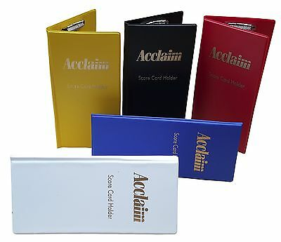 ACCLAIM Scorecard Holders Bowlers Large Plastic Yellow White With Metal Clip