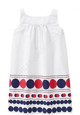 NWT Gymboree STAR SPANDLED BANNER *4th of July* Red White Blue Polka Dot Dress 4