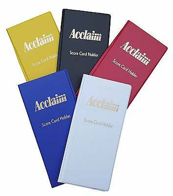 ACCLAIM Scorecard Holders x 6 Bowlers Large Plastic With Metal Clip