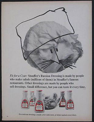 Stouffer's Russian Salad Dressing 1967 Original Vintage Ad