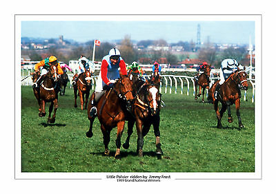 Grand National 1989 Little Polvier Jimmy Frost Horse Racing A4 Photo Aintree