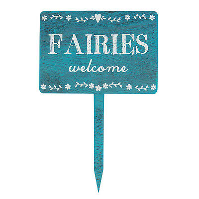 Sass and Belle Wooden Garden Sign - Fairies Welcome