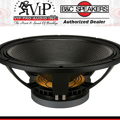 "B&C 18TBX100 18"" Woofer 2400W 8 Ohm Low Frequency 35 to 1,000 Hz Deep Clean Bass"