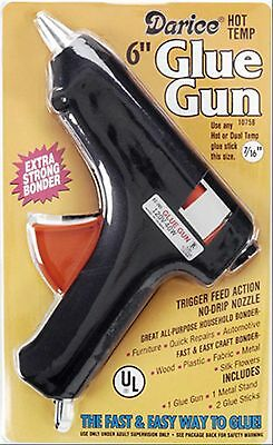 "Full size Hot Glue Gun - Trigger 110v 40w with two 7/16"" Sticks (Nominal 1/2"")"