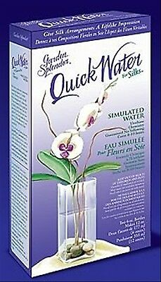 QuickWater 12 oz Clear Floral Arranging Hard Urethane Fake Simulated Water Kit