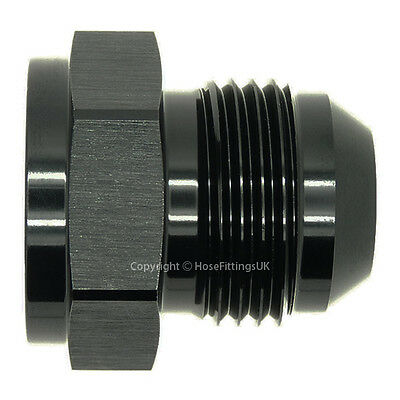 AN-10 FEMALE to AN-12 MALE JIC BLACK EXPANDER/REDUCER Hose Fitting Adapter BLK