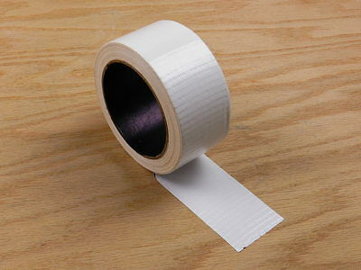 """2"""" White Colored Duct Tape Colors Waterproof UV Tear Resistant 20 yd 60'"""