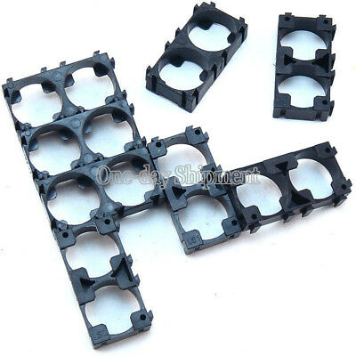 200pcs 18650 Battery 2x Spacer Radiating Shell EV Pack Plastic Heat Holder DIY