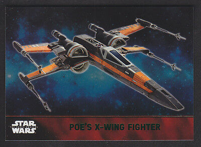 Topps Star Wars - The Force Awakens - Green Parallel Card # 58 Poe's X-Wing