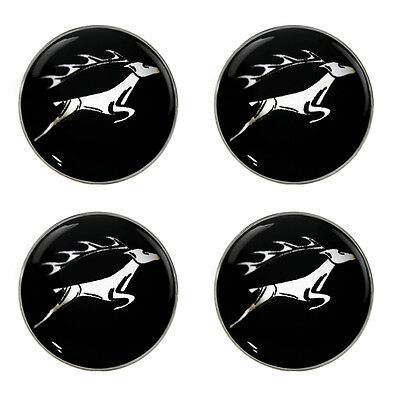 Triumph Stag Leaping Logo Self Adhesive Set of 4 Gel Wheel Centres