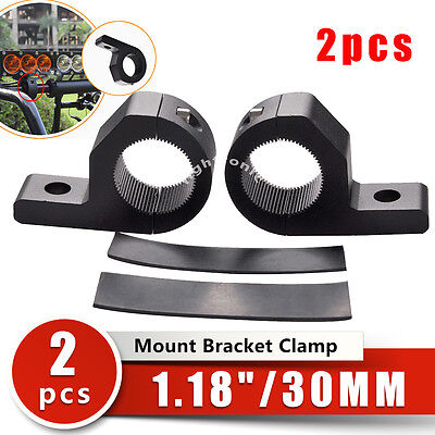 "1.18"" Roll Cage Bull Bar Mounting Bracket Clamp Bumper LED Work Light Bar 2pcs"